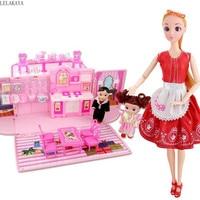 Pretend Play Furniture Toys Set Cartoon Mini Creative Plastic Cosplay Girls Lovely Simulation Mini Creative Dream House Doll New