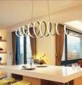 Современная светодиодная Подвесная лампа для кухни  столовой  белая Подвесная лампа для кофейного дома  подвесная потолочная лампа для спа...