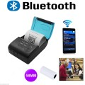 2PCS Newest Portable Mini 58mm Bluetooth Wireless Pocket Mobile POS Thermal Receipt Printer For IOS/Android