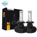 OGA 2 UNIDS 50 W 8000 Lúmenes Lámpara Principal Auto Linterna Del Coche H7 LED Kit de Luz de Niebla Del Bulbo 12 V 24 V 6500 K Mini Tamaño Plug & jugar