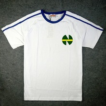 JP Anime Kaptan Tsubasa Cosplay Kostüm Tsubasa Ozora Nankatsu Ilkokul Kısa Kollu Futbol Forması Tişört