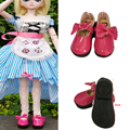1 Pair PU Leather Doll Shoes for BJD Dolls ,Mini Toy Shoes1/6 Bjd doll Shoes 6cm