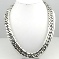 60CM*17MM BIG Long Silver Color Top Quality Necklace Stainless Steel Chains Man's Jewellry Wholesale Free Shipping Gifts KN027