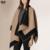YILIAN Brand New correspondência de Cores de luxo Da Marca cashmere Poncho inverno thicker quente xales envoltório double side cape Echarpes YL-70087