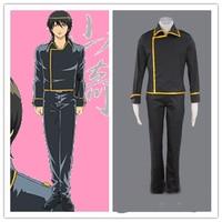 Anime GINTAMA Anime Shinsengumi Uniform Halloween Cosplay Kostuum top + + pant