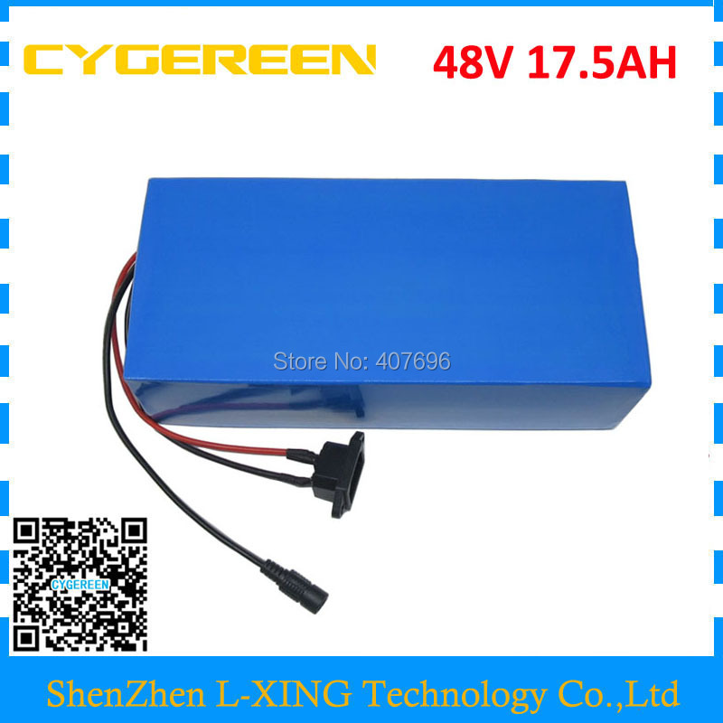 48V 17.5AH electric bike battery 1000W 48V 18AH ebike lithium scooter battery use 3500mah 35E cell 30A BMS 2A Charger