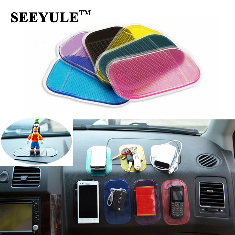 1pc SEEYULE Car Anti Slip Mat Dashboard Sticky Pad PVC for Non Slip Phone mp3 mp4