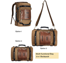 Men Retro Style Canvas Versatile Travel Backpack