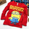 Despicable Me 2 Minion Boys T shirt Girls Nova T-shirts Kids Children T Shirts Child Autumn Long Slevve Tops & Tees