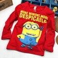 Despicable me 2 assecla camiseta meninos meninas nova t-shirts Crianças dos miúdos T-shirts Criança Outono Longa Slevve Tops & Tees