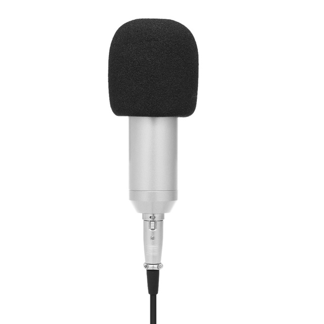 Docooler BM800 Wired Condenser Microphone Studio Sound Professional Recording Device Live Broadcasting Mic with Shock Mount Sponge Protector 3.5mm Audio Cable
