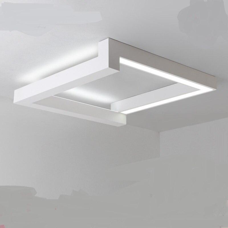 Led ceiling light minimalist modern bedroom lights creative squares Nordic restaurants living room lights luminaire