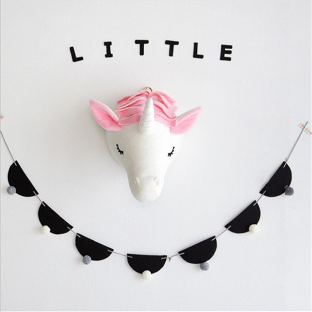 My Baby Little Elephant Unicorn Rabbit Plush Head Hanging Toy
