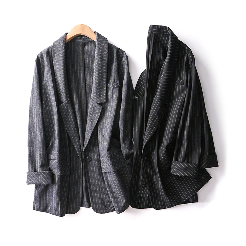 Winter Outwears Office Lady Jackets Women Blazers Linen
