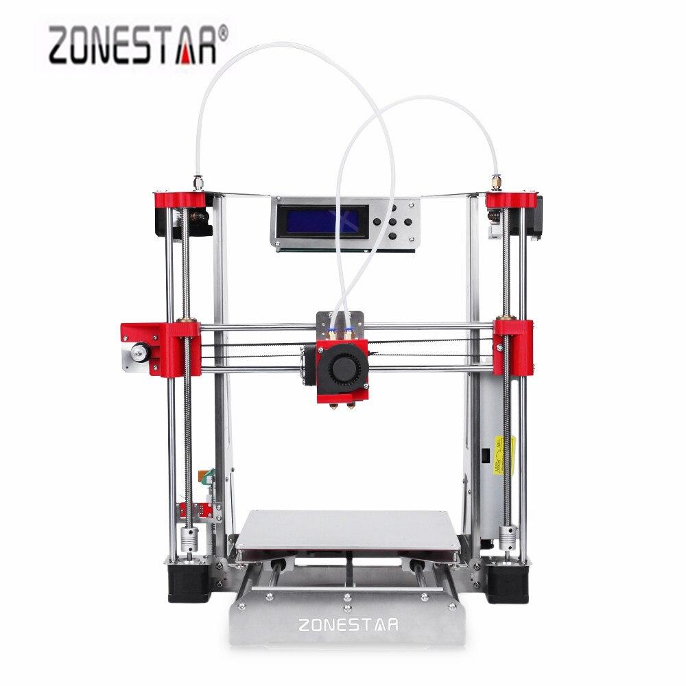 Zonestar P802QR2 220x220x240mm Facile assembler Plein Acrylique 3D Imprimante DIY Kit avec Double Extrudeuses