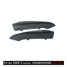 1 par de carbono amortecedor dianteiro lábio divisores aletas para bmw série 3 e92 e90 e93 real m3 sedan coupe conversível 2006 - 2013