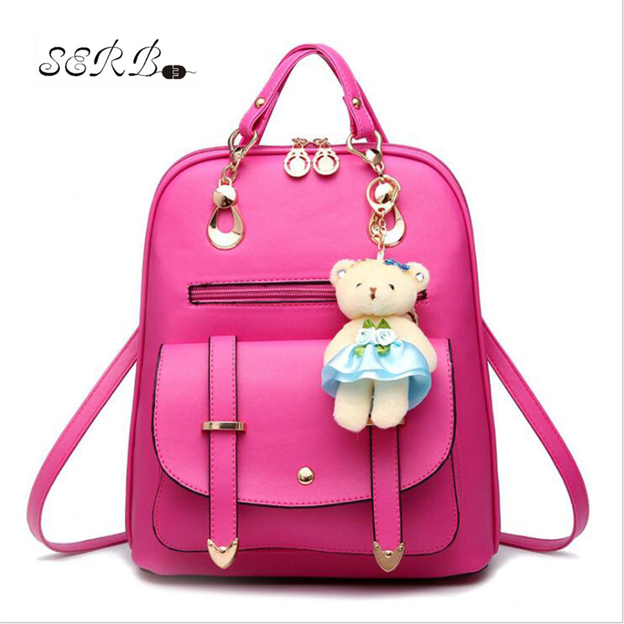 Brand  Shoulder Bag Women Backpack PU Leather Backpack Women 2016 Hot Sale School Bags Fashion Backpacks For Teenage Girls