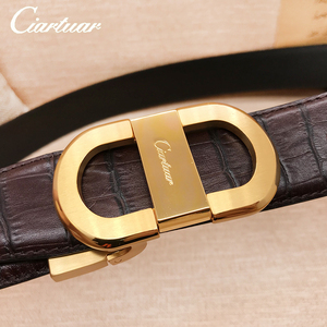 Image 1 - 2020 ciartuar official store luxury new fashion designer men belt high quality genuine leather cowskin for trouser free shipping