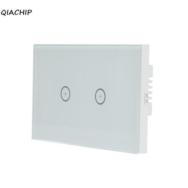 Us Wifi Smart 2 Gang Wall Light Switch White Crystal Panel Gl Control For