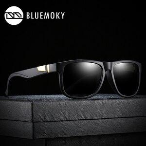 Image 3 - BLUEMOKY Square Black Sun Glasses for Men UV400 Polarized Brand Designer Sunglasses Men Driving Polaroid Shades for Men 2019