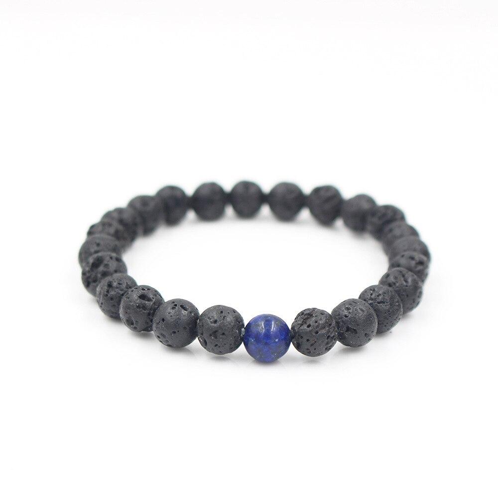 FCY Explosion models Fashion wild volcanic stone bracelets elastic bracelet bracelet unisex in Strand Bracelets from Jewelry Accessories