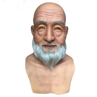 Hotsale Halloween Older men mask masquerade mask The silicone real carnival realistic masks