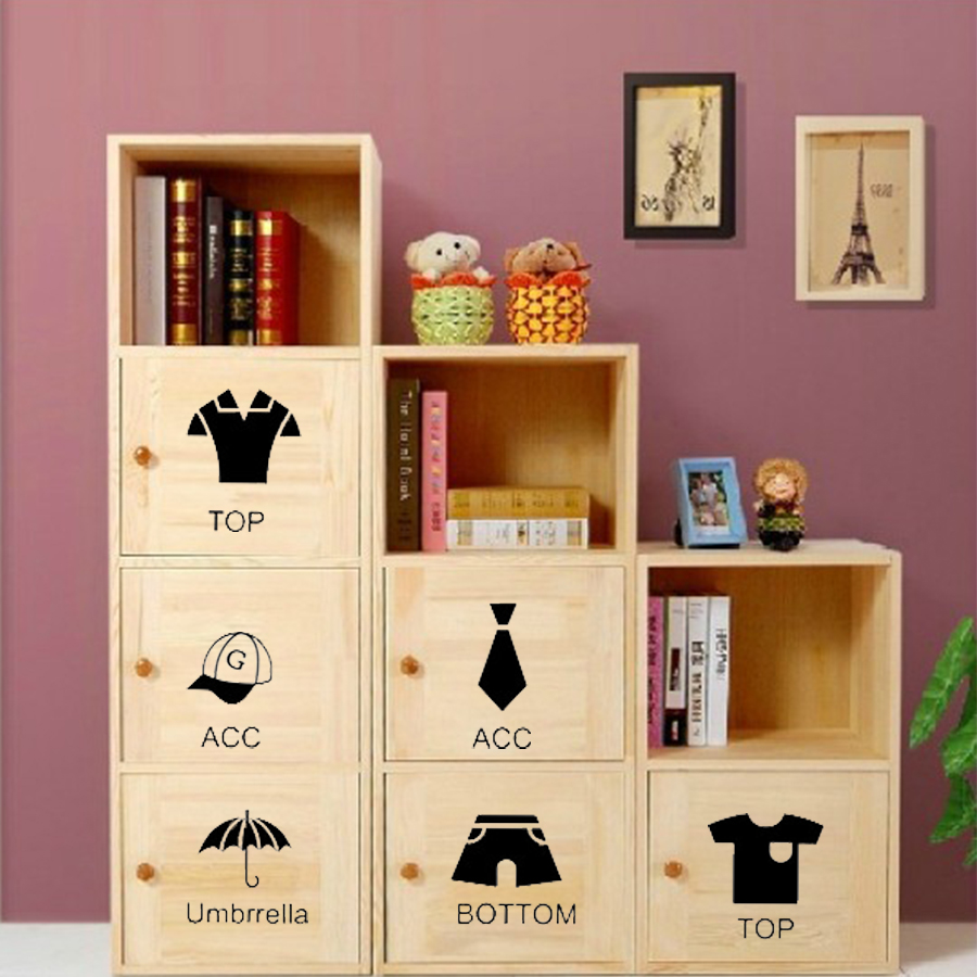 Diy Storage Cabinet Stickers Posters Wall Stickers For Kids Rooms Home  Decor Sticker On Closet Wardrobe Wall Decals For Kids In Wall Stickers From  Home ...