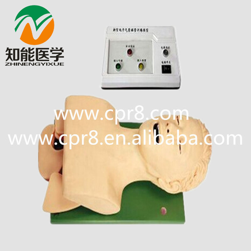 BIX-J5S Electronic Airway Lntubation Model(With Teeth Compression Alarm Device)  MQ126 bix j5s airway lntubation manikin teeth compression alarm device trachea cannula model wbw003