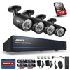 ANNKE 8CH 1080P HD DVR 1TB HDD IR CUT Indoor Outdoor CCTV Security Camera System