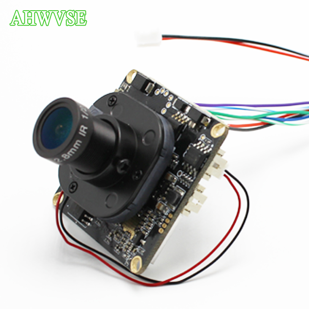 AHWVSE Ultra Low Illumination IP Camera 960P 1.3MP 2.8mm wide view 2.8mm LENS Security Camera RJ45 Cable CCTV IRCUT Board ONVIF