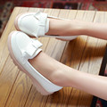 New Women Casual Shoes Bowtie Platforms Loafers Shoes Round Toe Student Sweet Spring Plus Size 34-43 Flats 47
