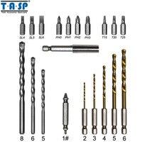 TASP Drill Screwdriver Bit Set Screw Extractor Tungsten Carbide Drill For Masonry Drilling