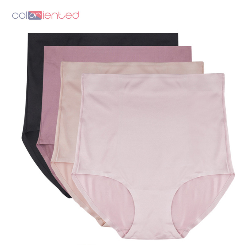 COLORIENTED Breathable High Waist Slimming Pants Tummy Control Underwear Shapewear Women Panty Girdle Polyest Shiny Fabric Shape