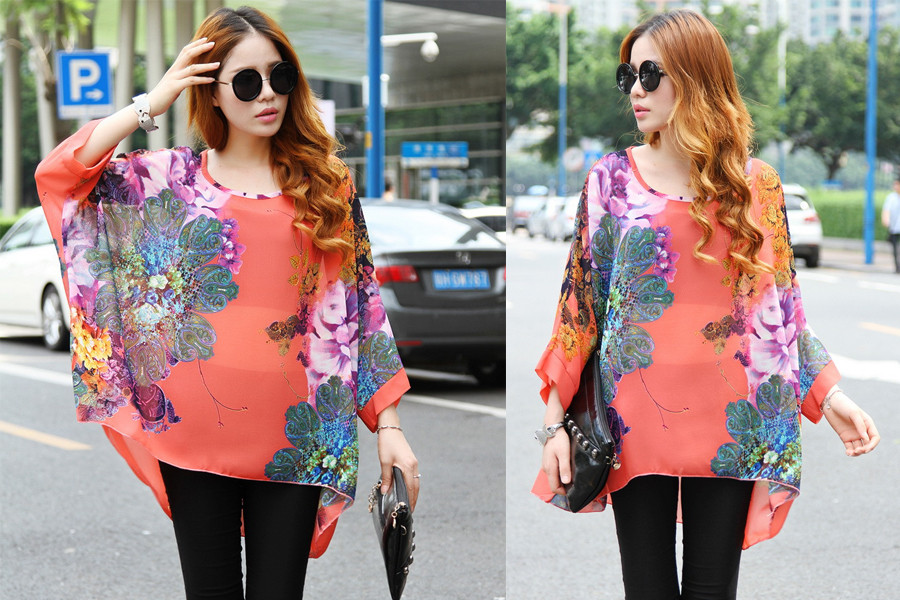 HTB1qxZALXXXXXaqXXXXq6xXFXXXc - New Fashion Summer Women's Shirt Boho Style Batwing Casual
