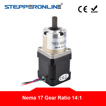 Stepper Motor With Gear Ratio 14:1 Planetary Gearbox High Torque Nema 17 1.68A CNC Robot 3D Printer image