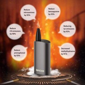 Image 3 - 2019 最新のオリジナル IBACCO 2.0 タバコ熱なしバーン気化器 2600mah 蒸気を吸うキット電子タバコ味