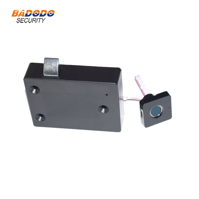 Plastic Fingerprint cabinet door lock biometric electric lock with chargeable battery  for drawer locker cupboards