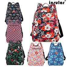 Insular maternity baby diaper bag for Mom organizer nursing mummy bags Fashion multifunctional print color backpack stroller
