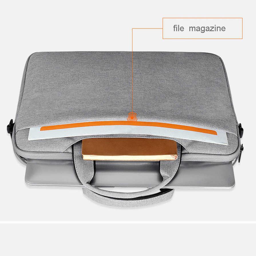 Полиэстеровая водонепроницаемая сумка на плечо для ноутбука чехол для ноутбука apple Macbook Air Pro 13 Asus Dell hp acer lenovo Surface Pro 4 5 6