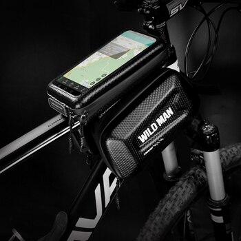 JOSPOWER دراجة أعلى أنبوب مزدوج الحقيبة اللمس شاشة الهاتف المحمول حقيبة MTB الطريق دراجة إصلاح أداة حقيبة قشرة صلبة المعطف السرج حقيبة