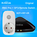 Original broadlink rm2 rm pro telefone wi-fi de casa inteligente controle remoto sem fio + controle remoto inteligente tomada sp2 kit
