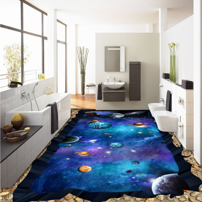 Free Shipping Aesthetic Cosmic Star Earth 3D custom floor stickers moisture proof thickened bathroom flooring wallpaper mural free shipping ground cracked canyon square street 3d park floor stickers thickened moisture proof flooring wallpaper mural