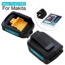 14.4v/18v usb fonte de alimentação para makita bateria de lítio íon telefone e usb dispositivos carregador conversor (apenas para a série lxt)