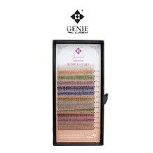 Genie 1pcs/lot 0.15mm J Curl 10mm/12mm Eyelash Extensions for Adorning Highlighting Beauty Glitter Eyelashes