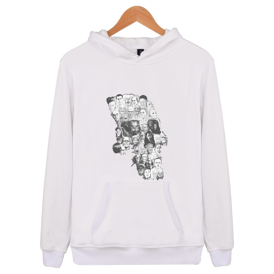 Aikooki Horror Skull Hip Hop Women Mens Hoodies And Sweatshirts Cotton Fashion Sweatshirt Fe ale Casual Hoodies Men Brand Hooded