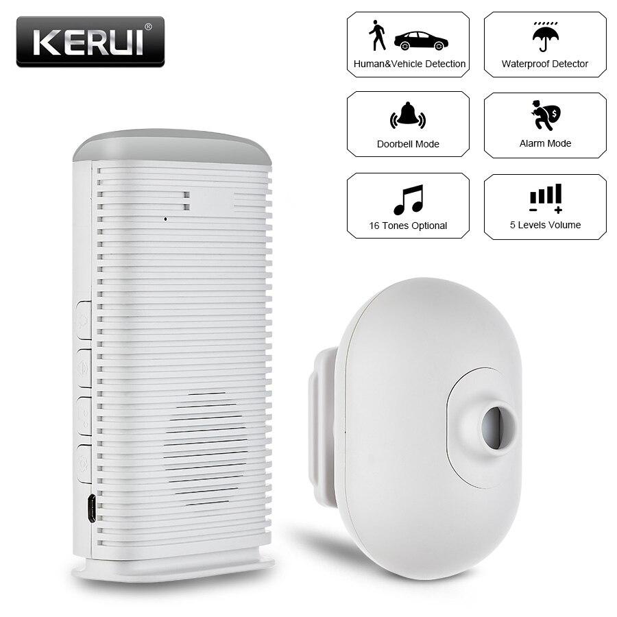 KERUI DW9 открытый Водонепроницаемый Беспроводной охранная Главная PIR инфракрасный детектор движения для гаража автомобиль Human