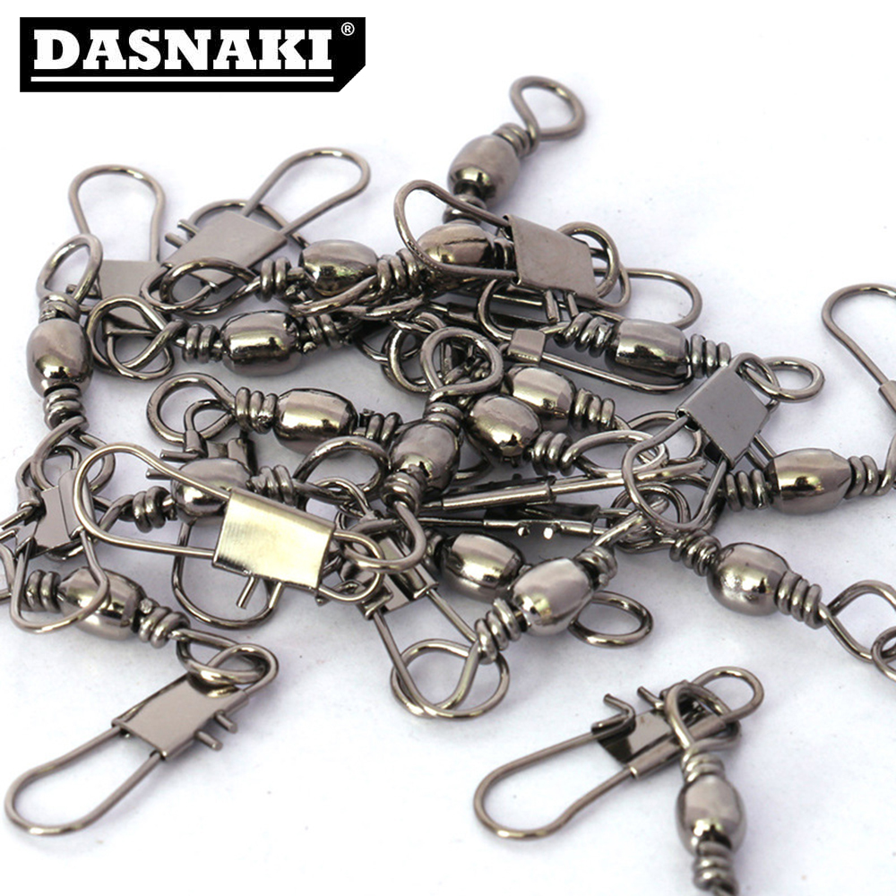100Pcs/Lot Fishing Connector Fishing Tools Link Solid Tackle Fishing Lure Accessories Hooked Snap Goods For Fishing Equipment