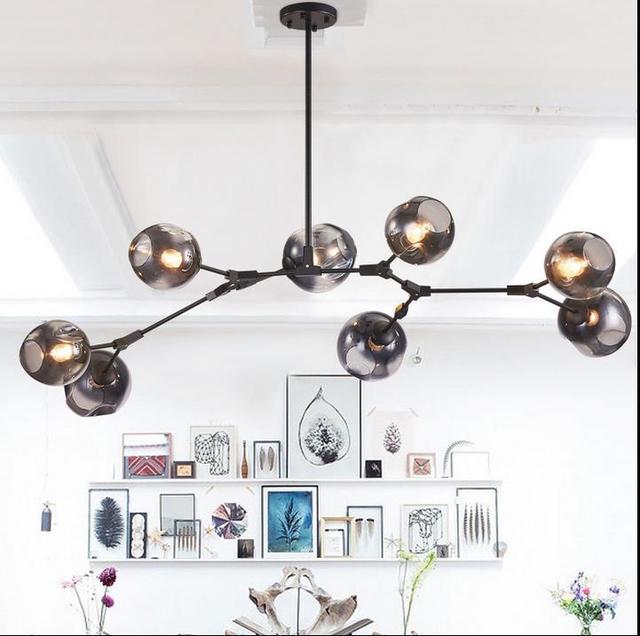 Us46 Post Designer Kunst In Pendent Moderne Idee 94 20Off Zweige Kronleuchter Droplight Nordic designer Lampe Der Glaskugel nwk0OP