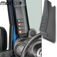 Marloo Left A Pillar Switch Pod Panel 4 Rocker Switches For Jeep Wrangler 2011 2012 2013