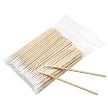5*100 шт/мешок ватные палочки с деревянной ручкой для татуажа макияж Microblade ватные палочки косметические ватные палочки